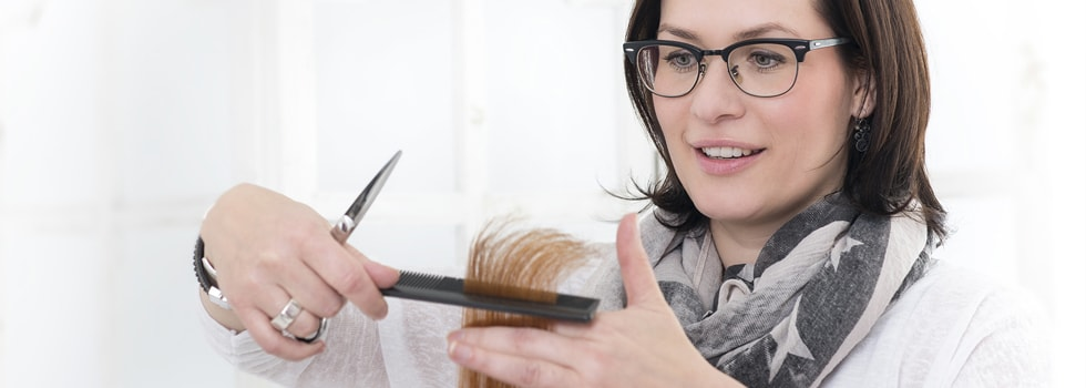 Friseurmeisterin Kerstin Klecha